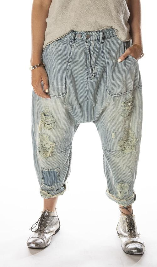 French Army Pants Railroad Magnolia Pearl